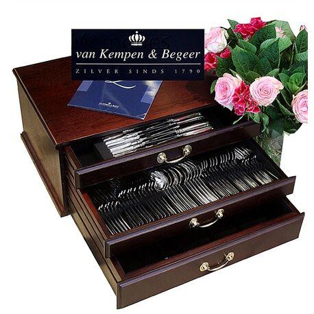 Zilveren cassette haags lofje 12 persoons van Kempen en Begeer
