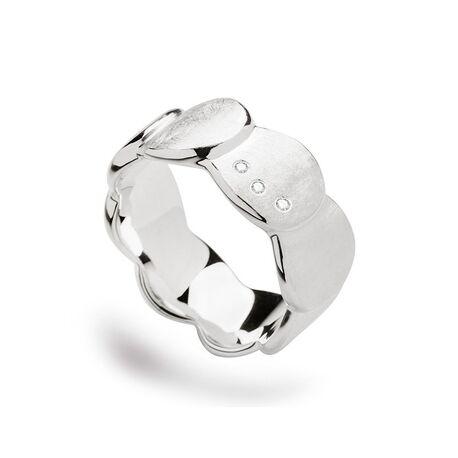Bastian Inverun gematteerde ring met 3 briljanten