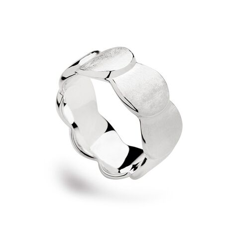 Bastian Inverun zilveren ring gematteerde rondjes