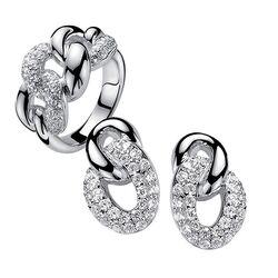 Zinzi Set Aanbieding: Zilveren Ring Met Oorstekers