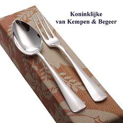 Zilveren Dessertcouvert Haags Lofje