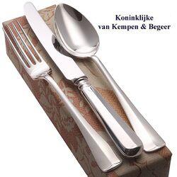 Zilveren dinercouvert met dinermes Haags Lofje