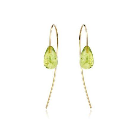 gouden oorbellen groen amber Sanne Kickken