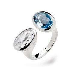 Zilveren ring bergkristal blauw topaas van Bastian Inverun