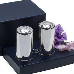 Stel zilveren specerijstrooibussen