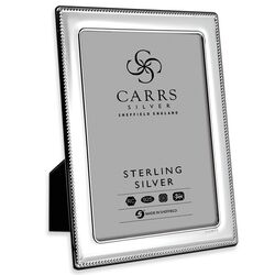 Zilveren fotolijst parelrand 18 X 13 fr076/w