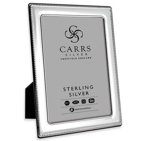 Zilveren fotolijst parelrand 18 X 13