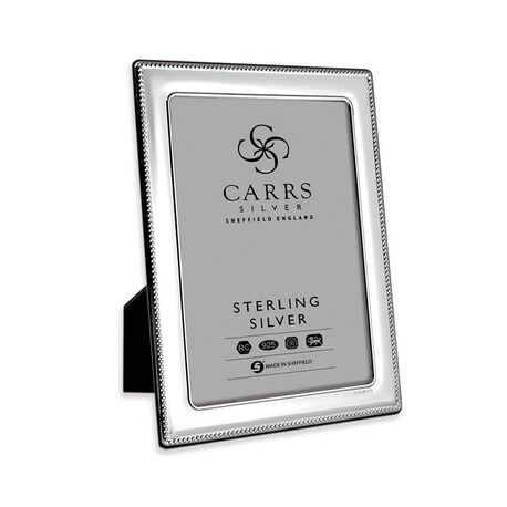 Zilveren fotolijst parelrand 15 X 10 FR074/w