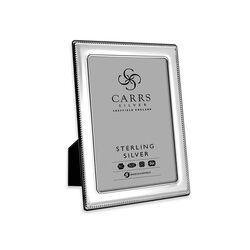 Zilveren fotolijst parelrand 13 X 9