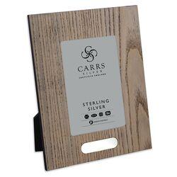 Carrs houten fotolijst met zilveren graveer plaatje 18 X 13