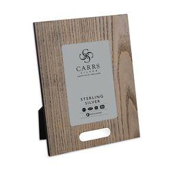 Carrs houten fotolijst met zilveren graveer plaatje 15 X 10