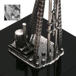 Zilveren heipaal miniatuur