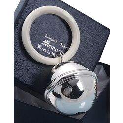 Zilveren Rammelaar bal filetrand