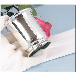 Zilveren beker met voet parelrand
