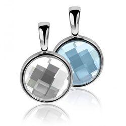 Zinzi Hanger Blauw Wit Swarovski Kristal Zih1006a
