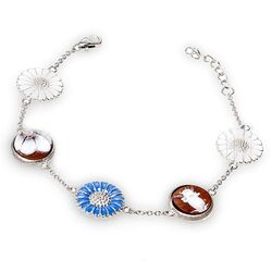 Diluca armband emaille camee