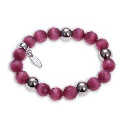Side armband roze bollen