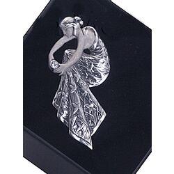 Zilveren Broche Vrouw Figuur