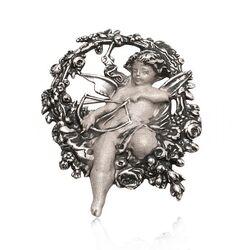 Gl Zilveren Broche Amor