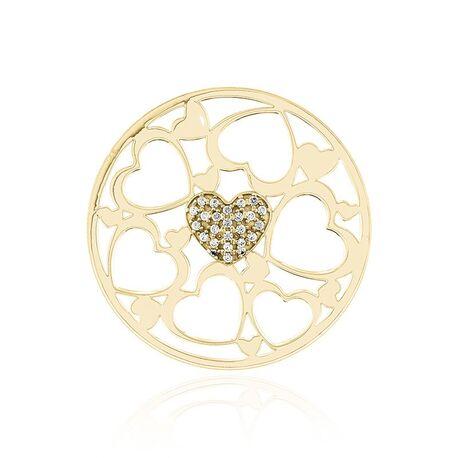 MY imenos heart verguld zilver 33mm