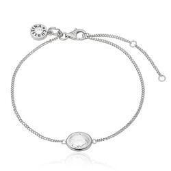 Christina zilveren armband wit crystal