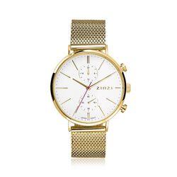 Traveller horloge verguld Zinzi ZIW707M