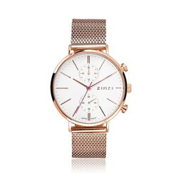 Zinzi roseverguld stalen Traveller horloge ZIW706M