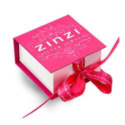 Rosé creolen met zwarte creoolhangers Zinzi