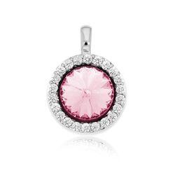 MY iMenso zilver hangertje piccolo met roze Swarovski