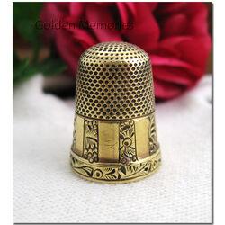 14 Karaats gouden vingerhoed rond 1900