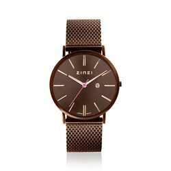 Zinzi Retro horloge bruin ZIW415M