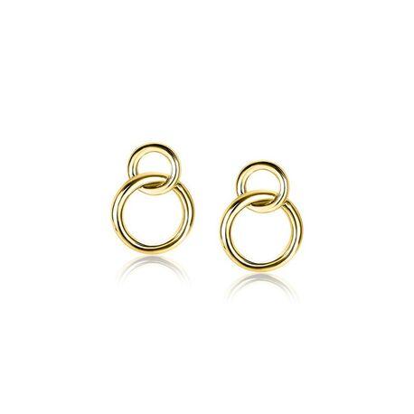 Zinzi verguld zilveren oorstekers cirkels ZIO1278G