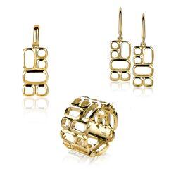 Gouden sieraden set Zinzi by Mart Visser