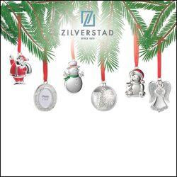 24 Verzilverde kersthangers van Zilverstad