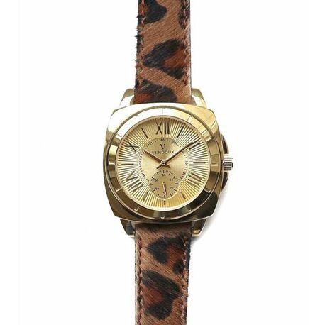 Vendoux verguld stalen horloge Piazza Leopard
