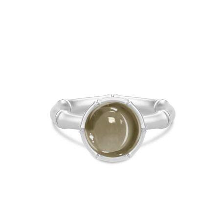 Julie Sandlau zilveren Bamboo ring Smokey