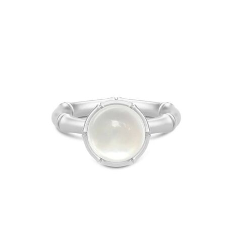 Julie Sandlau zilveren ring white
