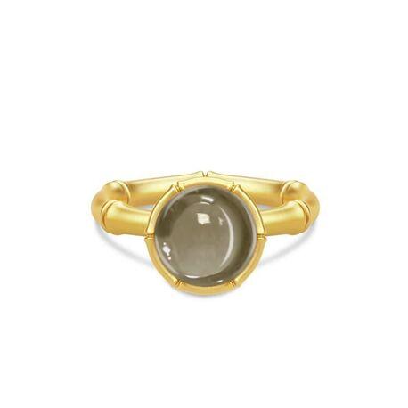 Julie Sandlau verguld zilveren ring Bamboo Smokey
