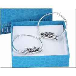 Zilveren oorringen met engeltjes