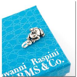 Zilveren bedel kikker met kroon van Raspini Charms