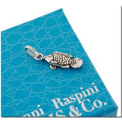 Zilveren bedel vis voor bedelarmband van Raspini