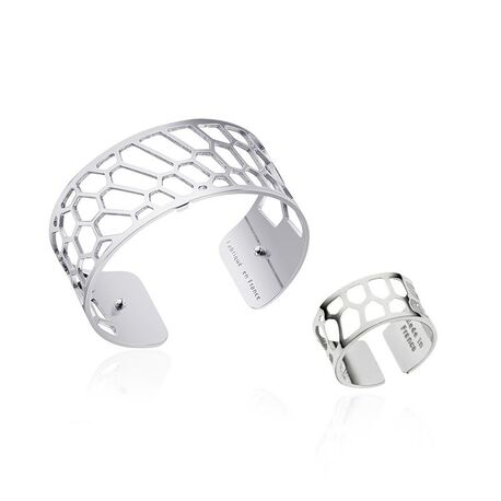 Les Georgettes set 25 mm Nid D abeille armband met ring