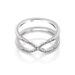 MY iMenso ceramiek zilveren ring infinity met zirkonia