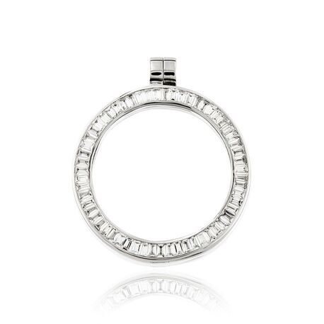 MY iMenso zilveren 33 mm medaillon Baquette 33-0056