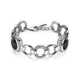 Zinzi zilveren armband bezet met wit en zwart zirkonia