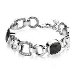 Zinzi zilveren armband met wit en zwarte zirkonia's ZIA537Z