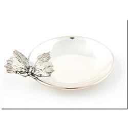 Zilver bonbon of amuseschaaltje met vlindertje Raspini