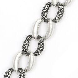 Zilveren armband gourmet schakel markasiet