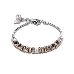 Coeur de Lion frontline armband parel en crystal