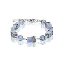 Coeur de Lion Geo Cube armband licht blauw